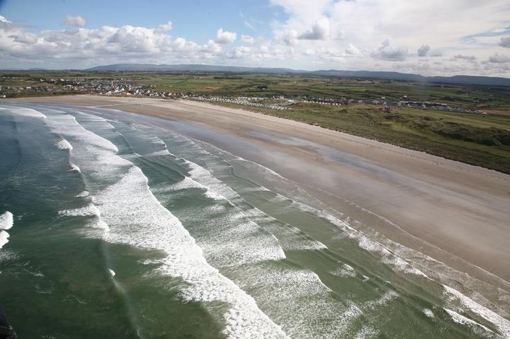 Aerial Shot of the Blue Flag Beach
