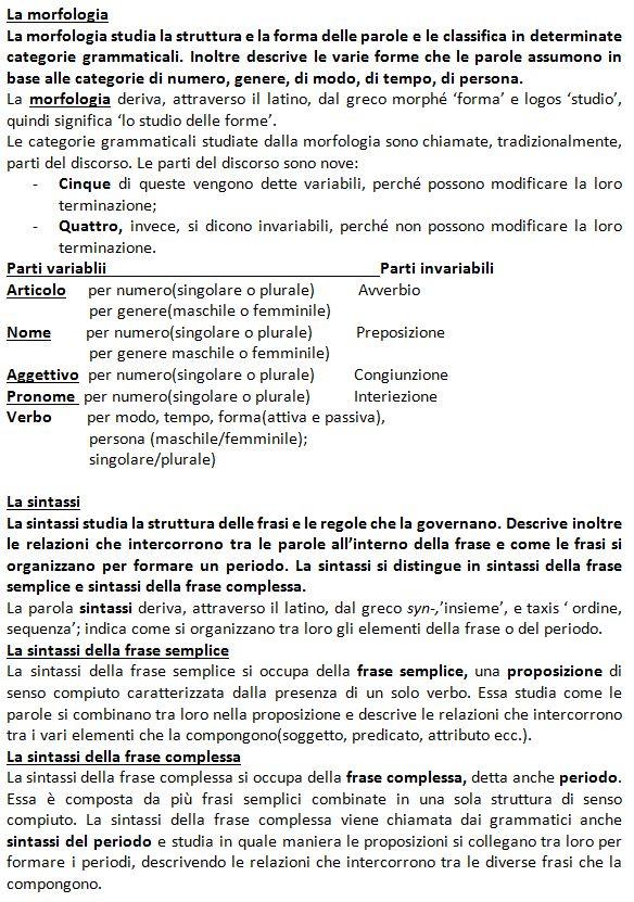 Grammatica italiana-la morfologia-la sintassi-