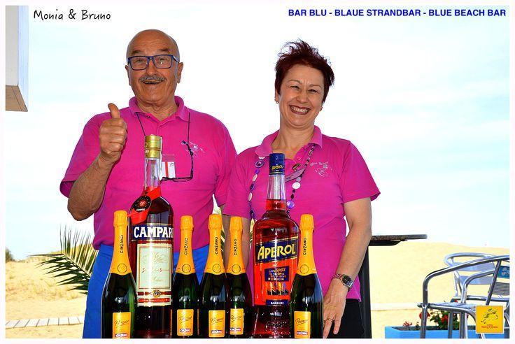 Monia and Bruno Blue Beach Bar