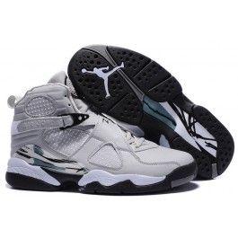 Versandkostenfre Nike Air Jordan 8 Männerschuhe Lichtgrau Weiß Schwarz  Schuhe Online | Neue Ankunft Jordan Schuhe