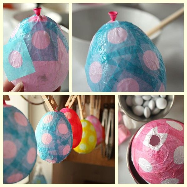 Huevos de Pascua de papel maché                                                                                                                                                                                 Más