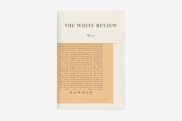 The White Review no. 2