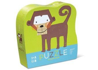 lieve puzzel met diertje (12st) Crocodile Creek | kinderen-shop Kleine Zebra