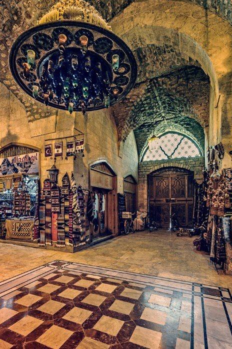 Inside Khan Al-Shuna - Old Aleppo   داخل خان الشونة .... حلب القديمة