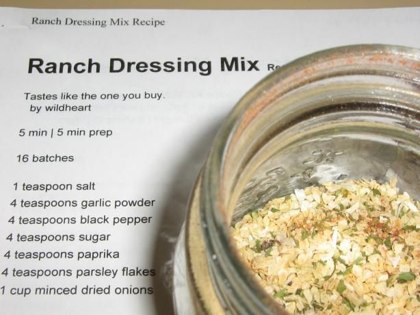 Ranch Dressing Mix | Recipe | Ranch Dressing Mix, Dressing and Recipe ...