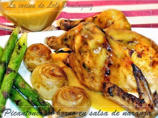 Receta Picantones al horno en salsa de naranja con cebollas francesas, por Lolioctubre1963 - Petitchef