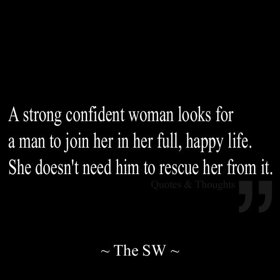 Men love confident women