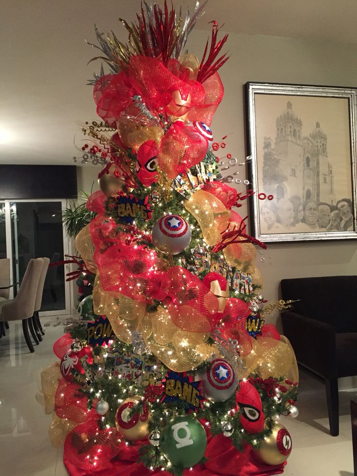 Classroom Decoration Superhero ~ Best superhero christmas tree images on pinterest