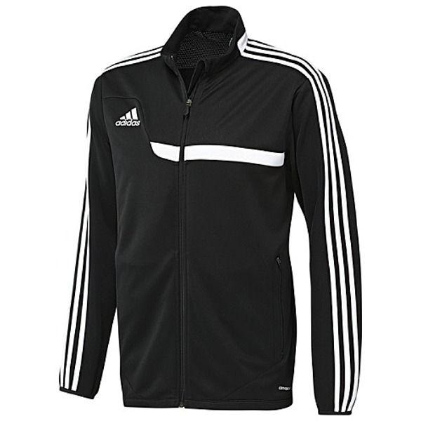 Esta es la nueva chaqueta del fútbol de adidas. Esta chaqueta es muy apretado y se correspondería con los pantalones cortos adidas.