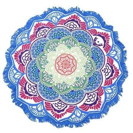 Mandala Round Beach Shawl (Yoga, Meditation)