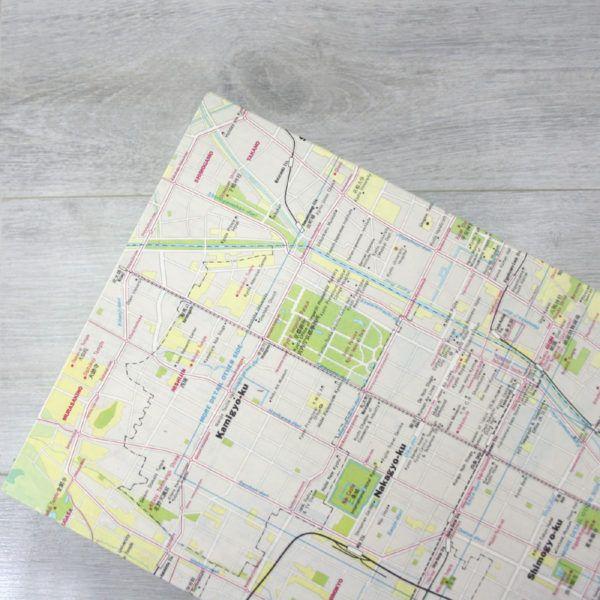 Kyoto, Japan Vintage 1984 Travel Map - Keepsake box