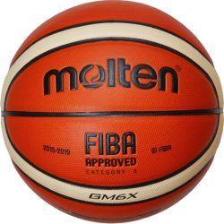 Molten GM6X basketball i god kvalitet. Str. 6. Er lavet i mikrofiber læder og er en super holdbar bold til prisen. Kan bruges både indendørs og udendørs.