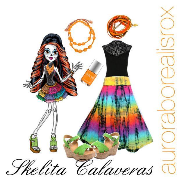skelita calaveras by auroraborealisrox liked on polyvore featuring miss selfridge kork monster highhalloween costumesnails - Skelita Calaveras Halloween Costume