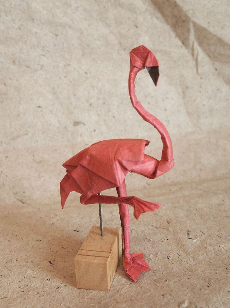 Origami Flamingo Instructions Psychologyarticlesfo
