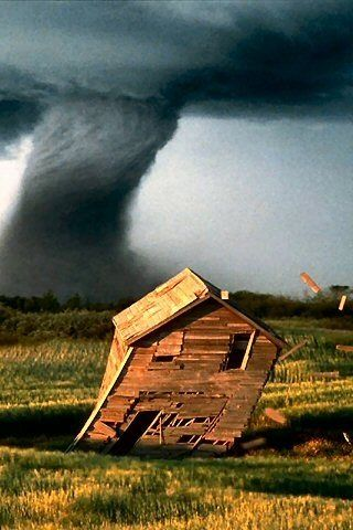 There was a house, half-twisted by a tornado, that stood for at least ten years…