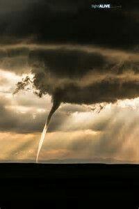 Short lived rope tornado north of Wharland,Wyoming~5/21/14