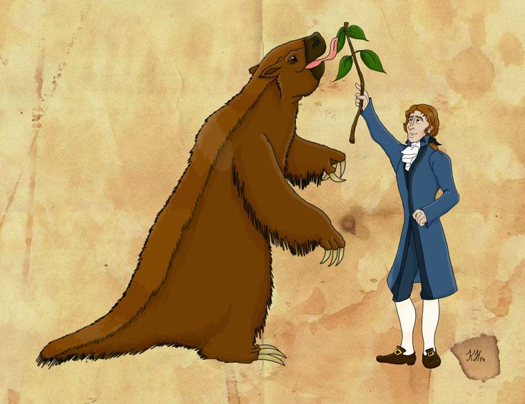 Thomas Jefferson and his Ground Sloth by Pelycosaur24