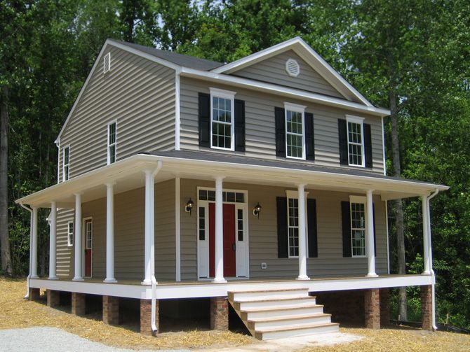 2 Story House With A Porch Romm Custom Homes Gallery