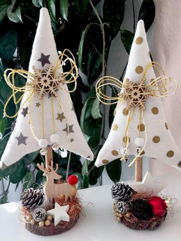 2 Tannenbäume Christmas Tilda Landhaus Deko | eBay   – Feiertage – Weihnachten