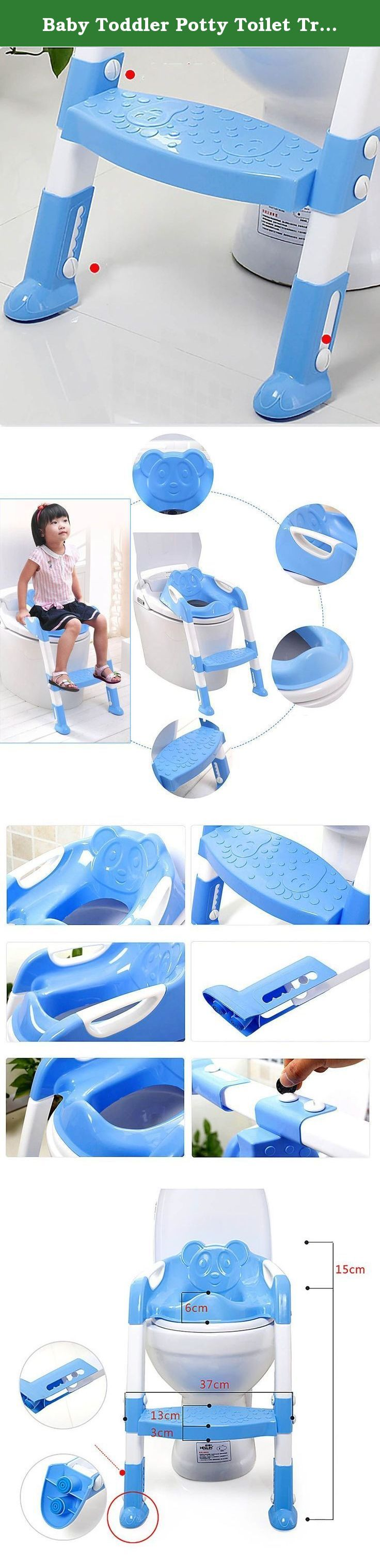 Baby Toddler Potty Toilet Trainer Safety Seat Chair Step with Adjustable Ladder Infant Toilet Training Non-slip Folding Seat - Blue. Description: 100% Brand New and High Quality. Cushion function: the choice made of safe material, with armrest, let baby more at ease and more comfortable to use. Water closet ladder function: Let childhood training baby has a good toilet habit. Anti-skid function: with a lifting of non-slip pedal, seat cushion and feet cushion are designed to be non-slip…