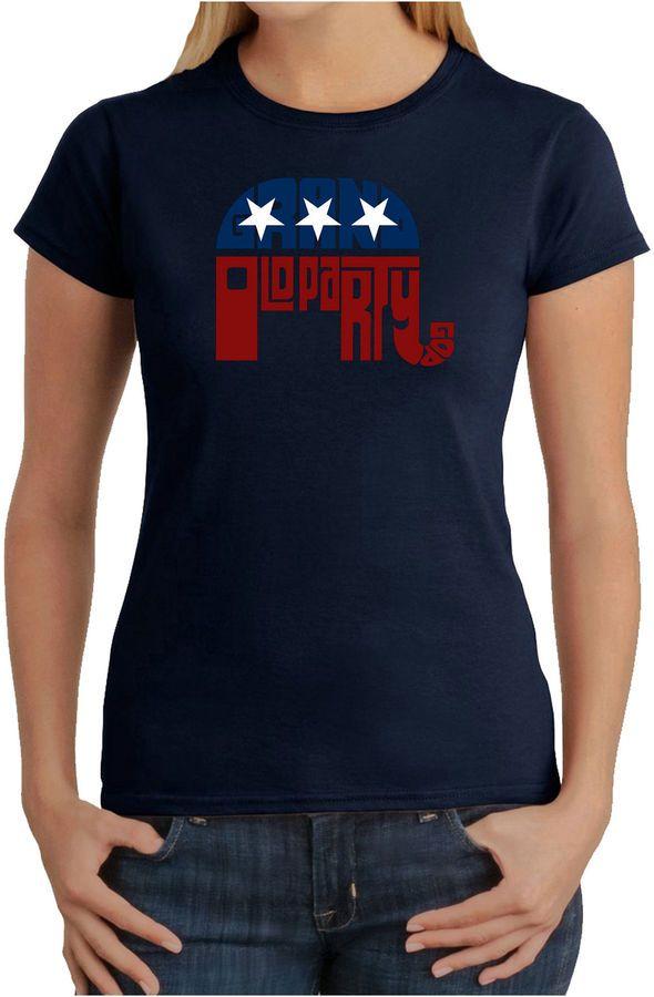 LOS ANGELES POP ART Los Angeles Pop Art Republican - Grand Old Party Graphic T-Shirt
