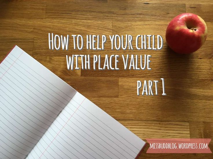 Part 1 on how to help your child with place value.