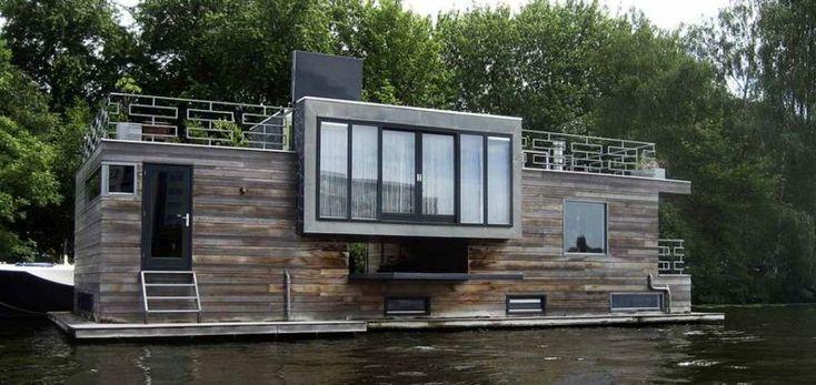 die besten 25 schwimmende h user ideen auf pinterest schwimmendes haus futuristisches hause. Black Bedroom Furniture Sets. Home Design Ideas