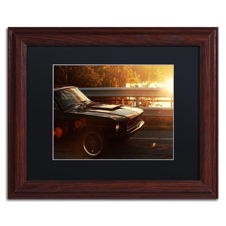 Jason Shaffer '67 Mustang' Matted Framed Art