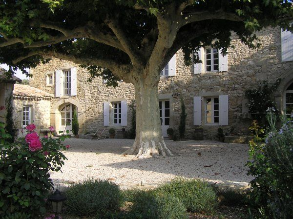 French Garden Design Gravel Courtyard French Country
