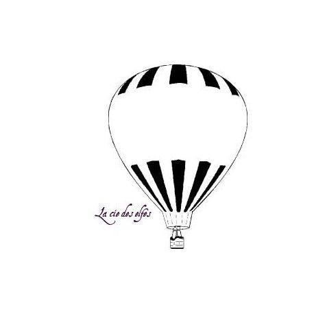 ballon dirigeable - montgolfière - tampon nm