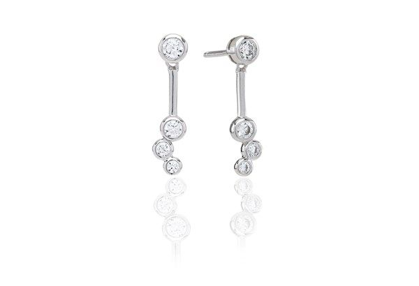 Earrings Sardinien Tre with white zirconia!