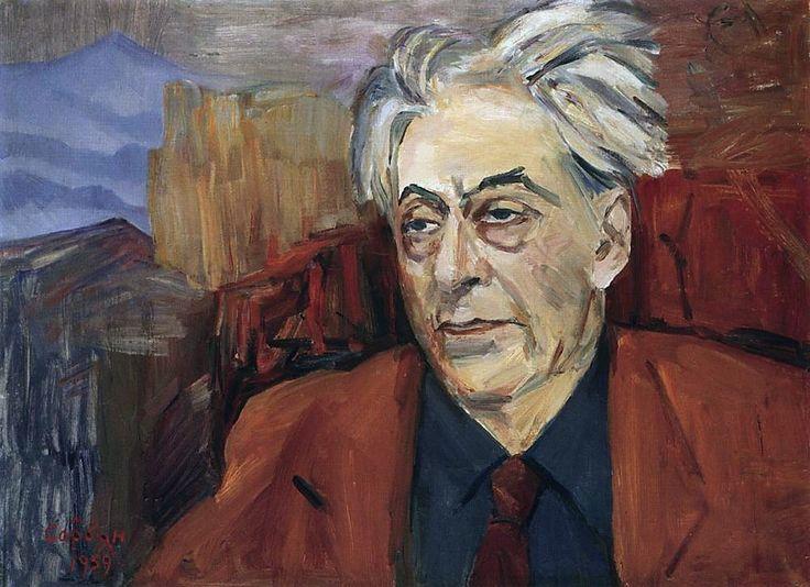 М. Сарьян. Портрет Эренбурга. 1959