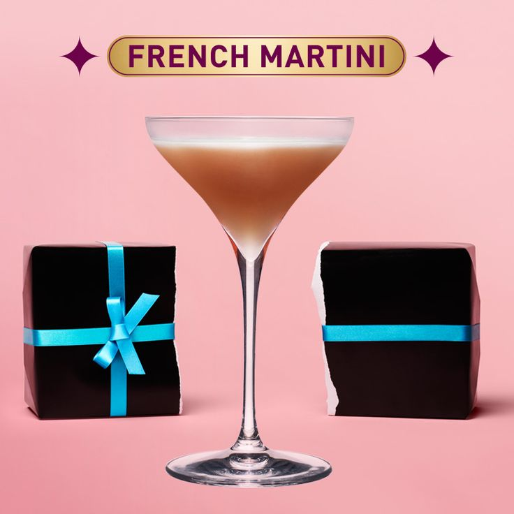 To make a French Martini, pour Chambord, vodka and pineapple juice into a cocktail shaker filled with ice. Shake vigorously