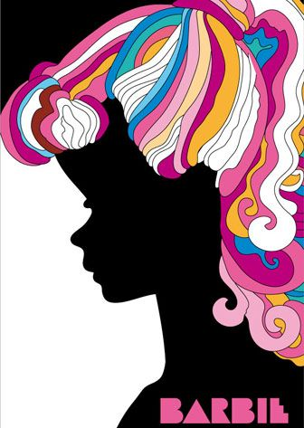 Barbie by Milton Glaser #Graphism #culte