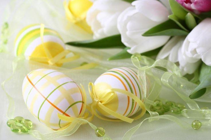 Пасхальные украшения яиц, корзинок, подарков. Пасхальный декор своими ру...