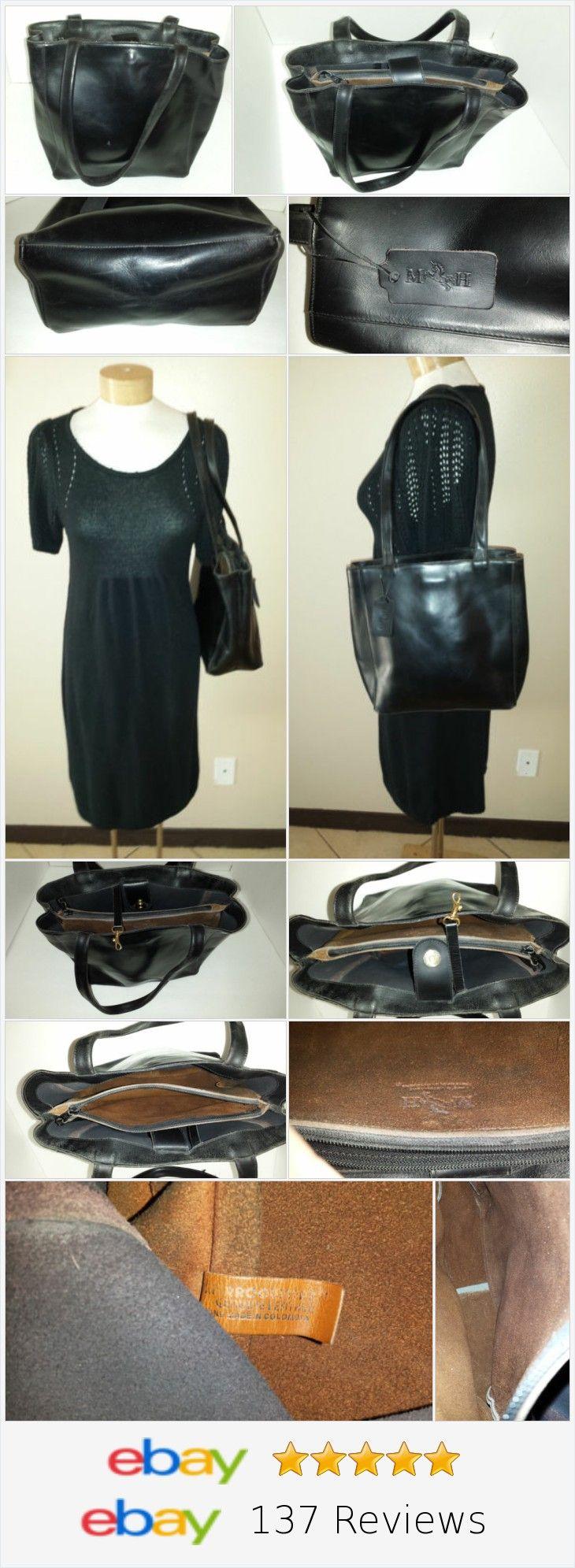 MH Mario Hernandez Black Leather Shoulder Bag Tote Made Columbia http://stores.ebay.com/shopabbygirl?_rdc=1