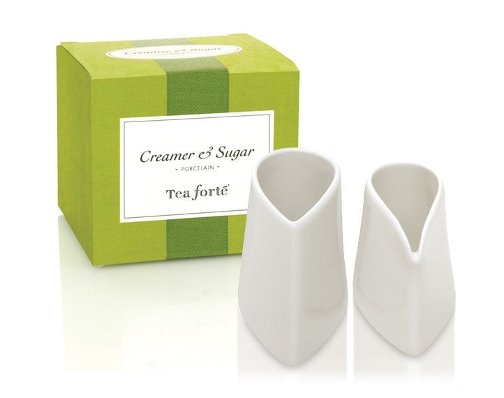 Creamer & Sugar - Our porcelain Creamer & Sugar set complements any décor. The slightly tapered tear drop shape adds modern sophistication to the simple and classic design.
