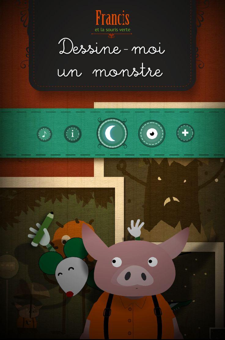 """Ecran titre de l'application """"Dessine-moi un monstre"""", disponible gratuitement sur le Google Play : https://play.google.com/store/apps/details?id=air.dessinemoiunmonstre15032014"""
