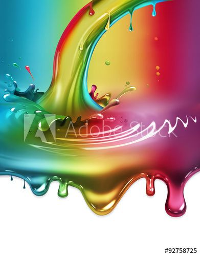радуги краски всплеск
