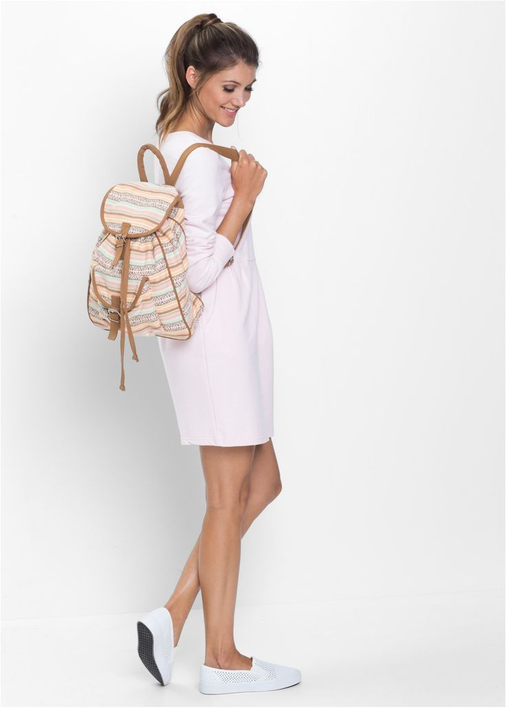 Хлопковый рюкзак, bpc bonprix collection, кремовый/мятный