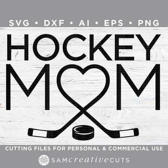 Download Hockey Mom SVG Heart Hockey Love Hockey Hockey SVG | Etsy ...