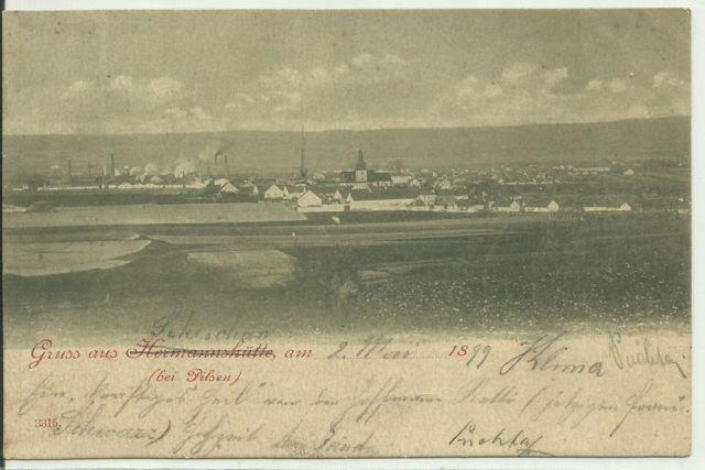 1899 Nýřany, pohled na město