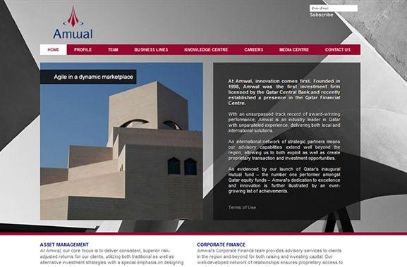 AMWAL tradicional Investment Company de Dubai tiene nueva web! Trabajo realizado para Intec Studio, Dubai