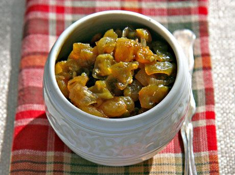 Green (or red) tomato and apple chutney perks up a leftover turkey ...