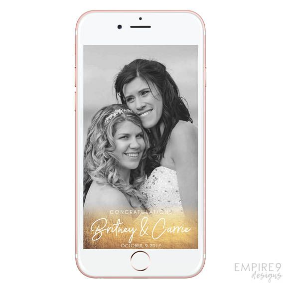 Wedding Snapchat Filter Snapchat Filter Wedding Custom