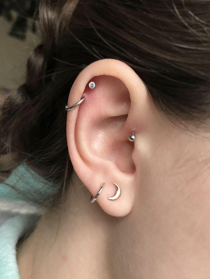 piercings double helix double cartilage forward helix double lobes earrings piercing. Black Bedroom Furniture Sets. Home Design Ideas