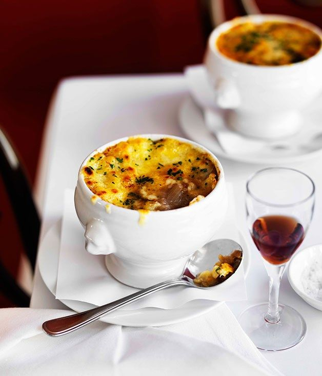 Australian Gourmet Traveller recipe for Onion soup gratinée