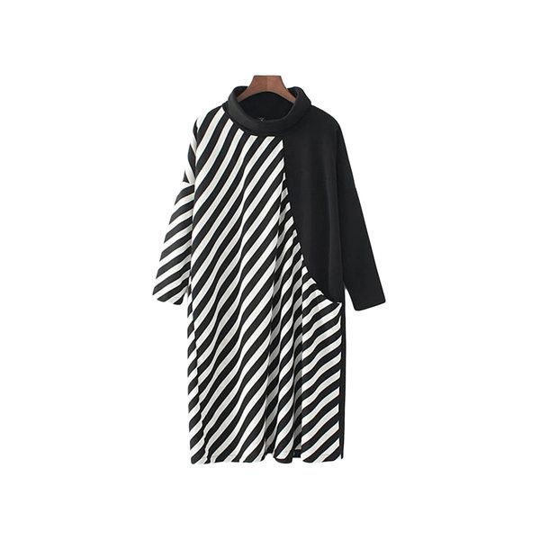 Loose Turtleneck Striped Patchwork Batwing Sleeve Dress (440 ARS) ❤ liked on Polyvore featuring plus size women's fashion, plus size clothing, plus size dresses, as picture, women plus size dresses, plus size cocktail dresses, plus size special occasion dresses, long-sleeve turtleneck dresses, long sleeve turtleneck and knee length cocktail dresses
