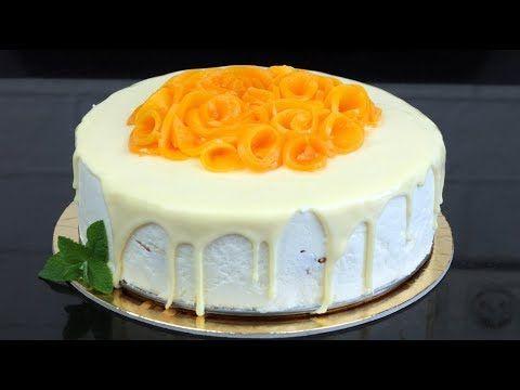 Fresh and simple peach cheesecake. Check orchideli channel on YouTube.  orchideli-Lekki tort brzoskwiniowy polany białą czekoladą (brzoskwinowo-serowy)