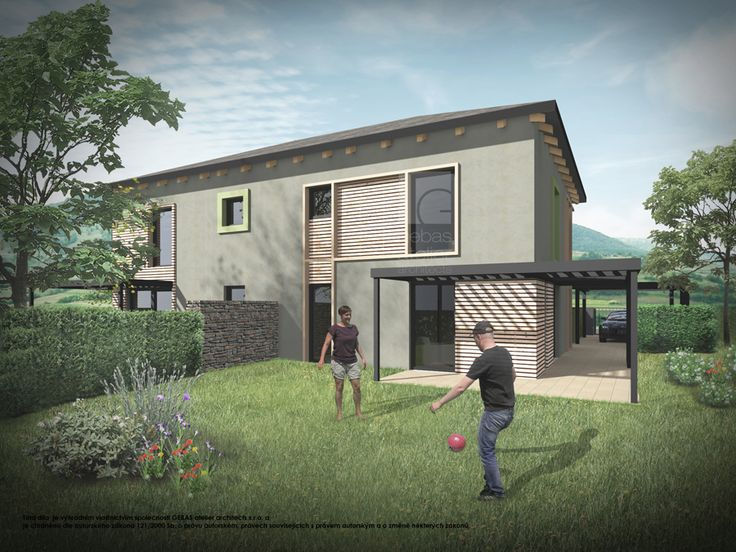Ve vstupním podlaží se nachází společenská zóna – obytný prostor zahrnuje kuchyňský kout, jídelnu a obývací pokoj, ze kterého je přístup na venkovní terasu.